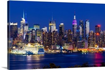 Manhattan wall art & canvas prints manhattan panoramic photos