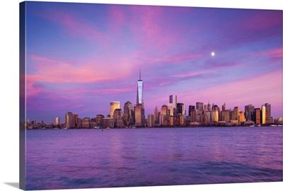 New York, New York City, lower Manhattan and Freedom Tower