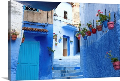 North Africa, Morocco, Chefchaouen district.Details of the city