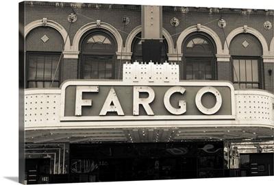 North Dakota, Fargo, Fargo Theater, marquee