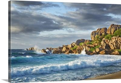Ocean Impression At Grande Anse, Seychelles, La Digue, Grande Anse, Indian Ocean