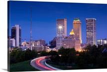 Oklahoma, Tulsa, skyline from Route 75