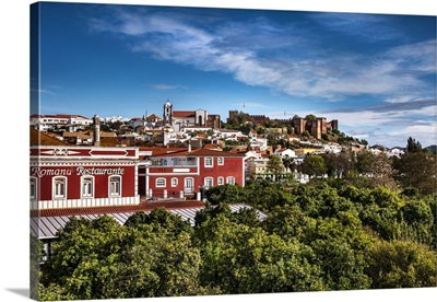 Old town with Cathedral and castle, Silves, Algarve, Portugal