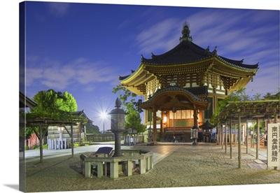 Pagoda at Kofuku-ji Temple at dusk, Nara, Kansai, Japan