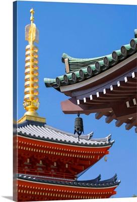 Pagoda at Tocho-ji Temple, Fukuoka, Kyushu, Japan
