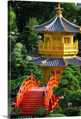 Pagoda in Nan Lian Garden at Chi Lin Nunnery, Diamond Hill, Kowloon, Hong Kong