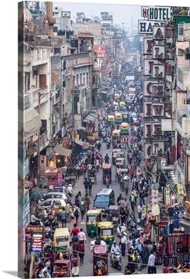 Paharganj area of New Delhi, India