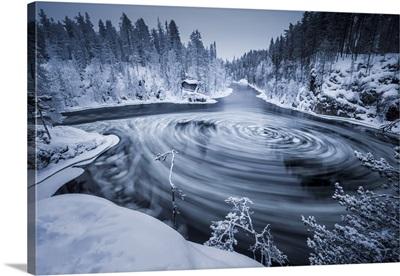 Pancake Ice On The Kitka River, Kuusamo, Finland