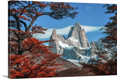 Patagonia, Argentina, El Chalten, Mount Fitz Roy in Los Glaciares National Park