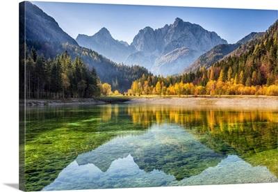 Peaks Of Prisojnik And Razor Reflected In Pools Beside The Velika Pisnca River, Slovenia