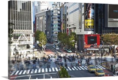 Pedestrian Crossing, Shibuya, Tokyo, Japan