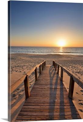 Pego Beach At Sunset. Comporta, Alcacer Do Sal. Portugal