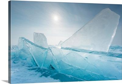 Pieces Of Transparent Ice At Lake Baikal, Irkutsk Region, Siberia, Russia