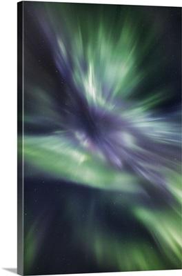 Polar Light (Aurora Borealis) Corona, Norway, Troms, Kafjord, Loekvol, Lapland