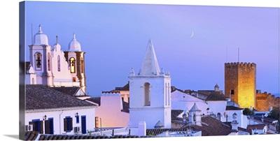 Portugal, Alentejo, Monsaraz, overview at dusk