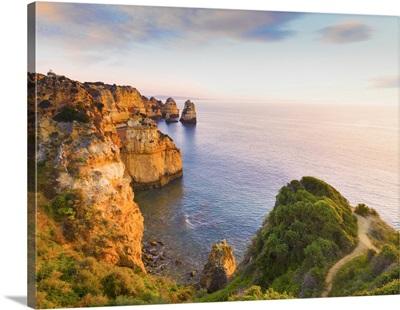 Portugal, Algarve, Lagos, Ponta Da Piedade