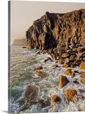 Portugal, Azores, Corvo, Rocky Coastline near Vila do Corvo