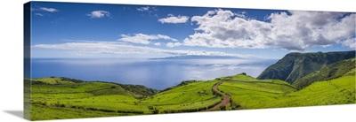 Portugal, Azores, Sao Jorge Island, Monteiros towards Pico Island