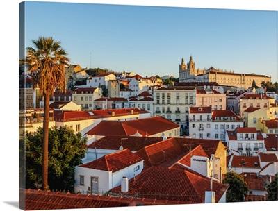 Portugal, Lisbon, Miradouro das Portas do Sol, Alfama Neighbourhood