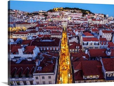 Portugal, Lisbon, Miradouro de Santa Justa