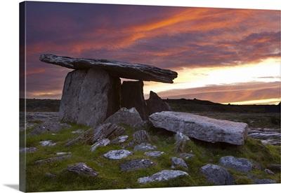 Poulnabrone Dolmen, The Burren, Co. Clare, Ireland