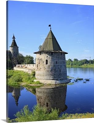 Pskov kremlin from the Pskova river, Pskov, Pskov region, Russia