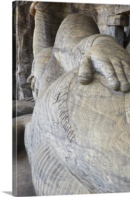 Reclining Buddha statue, Gal Vihara, Polonnaruwa North Central Province, Sri Lanka