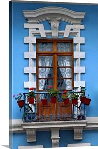 Restored Colonial Architecture Apartment Window Calle Venezuela