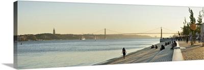 Ribeira das Naus esplanade, along the Tagus river, Lisbon, Portugal