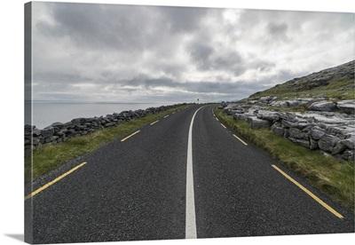 Road in Burren National Park, Munster, County Clare, Ireland