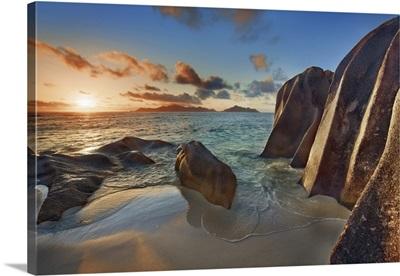 Rock Formation At Anse Source d'Argent, Seychelles, La Digue, Indian Ocean
