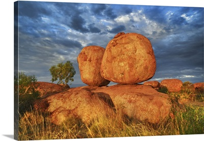 Rock Formation At Devils Marbles, Australia, Northern Territory, Devils Marbles