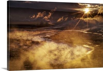 Rockie Mountains, Wyoming, Yellowstone National Park, Upper Geyser basin