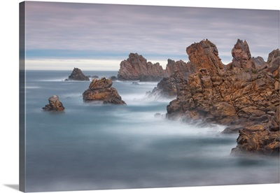 Rocky Coast At Pointe De Creac'h, France, Brittany, Finistere, Brest, Ouessant