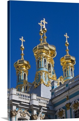 Russia, St. Petersburg, Catherine Palace Chapel detail