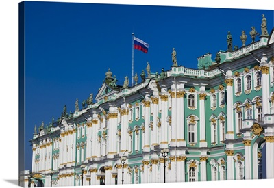 Russia, St. Petersburg, Winter Palace and Hermitage Museum