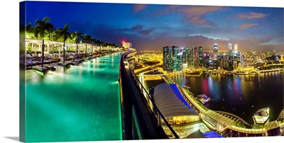 Sands SkyPark infinity swimming pool on the 57th floor of Marina Bay Sands Hotel