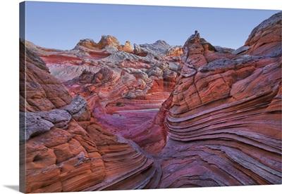 Sandstone Erosion Landscape In White Pocket, Arizona, Vermillion Cliffs, Grand Staircase