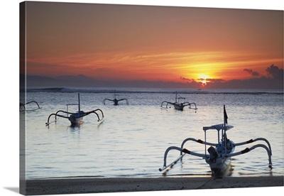 Sanur beach at dawn, Bali, Indonesia