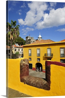 Sao Tiago fortress at the old city of Funchal, Madeira, Portugal