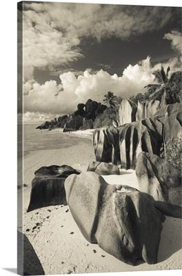 Seychelles, La Digue Island, L'Union Estate Plantation, Anse Source D'Argent beach