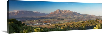 Simonsberg Mountain and Paarl Valley, Paarl, Western Cape, South Africa