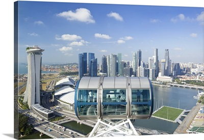 Singapore, Elevated view over the City Centre and Marina Bay