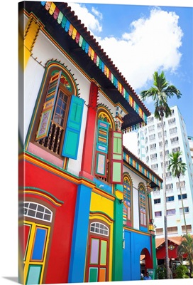 Singapore, Little India, Colourful Heritage Villa, once the residence of Tan Teng Niah