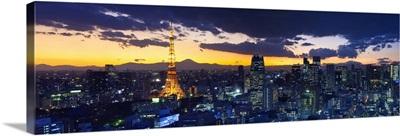 Skyline from Shiodome, Tokyo, Japan