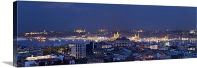 Skyline of Istanbul from the Beyoglu area, Istanbul, Turkey