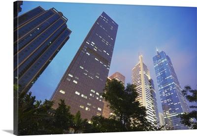 Skyscrapers around CITIC Plaza, Tianhe, Guangzhou, Guangdong Province, China