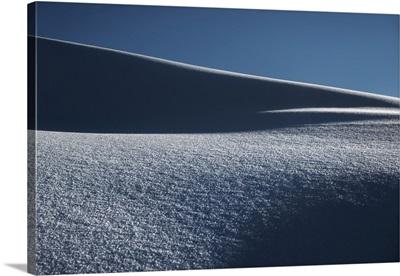 Snow Dunes Of The Tuscany Appenines, Appennino Tosco Emiliano, Tuscany, Italy
