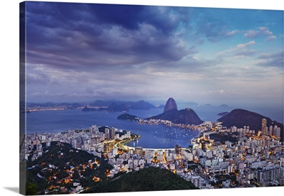 South America, Brazil, Rio de Janeiro, Sugar Loaf, and Botafogo bay