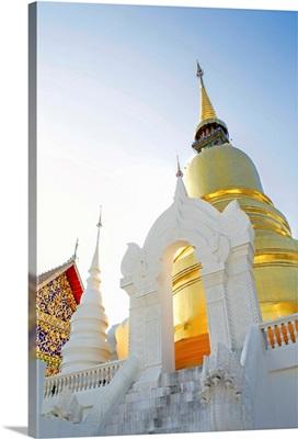South East Asia, Thailand, Lanna, Chiang Mai, Wat Wat Suan Dok, golden stupa